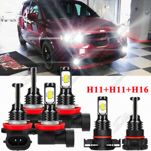 6x For Dodge Grand Caravan 2011-2019 6000K LED Headlight kit Bulbs High Low Fog