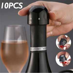 10pcs Silicone Sealed Champagne Stopper 1PC Vacuum Red Wine Bottle Cap Barware
