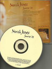 NORAH JONES Sunrise ULTRA RARE PROMO Radio DJ CD single 2001 USA MINT