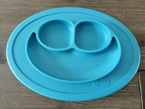 EZPZ Happy Mat - One-piece Silicone Toddler Baby Plate/Mat - Blue *HAS DEFECT*
