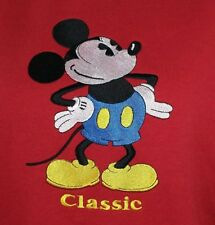 Mickey & Co. Mouse Disney Classic Red Sweatshirt Size XL USA