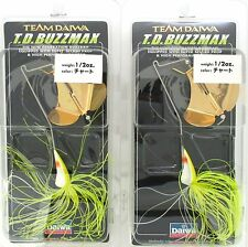 (2) Team Daiwa 1/2 Oz. TD Buzzmax Buzzbaits Chartreuse TDB1/2.32