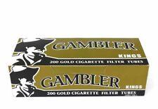 5x Boxes Gambler Lights KING SIZE ( 1,000 Tubes ) Cigarette Tube Tobacco Gold