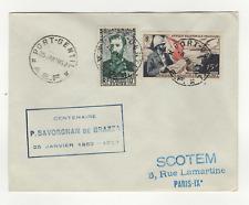 A.E.F. 2 timbres sur lettre FDC 1952 tampon Port-Gentil  /L511