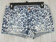 American Eagle Women's Distressed Animal Cheetah Print Short Shorts Size 0