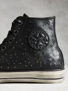 NIB $250 Converse by John Varvatos CTAS Mini Stud Hi Black/Bel151295C US Mens 11