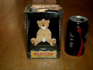 "BAD TASTE BEARS - "" PHIL "", RESIN TEDDY BEAR FIGURINE, COLLECTOR'S TOY, [ NIB ]"