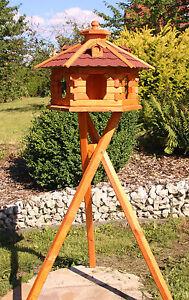 Vogelhaus Vogelhäuser wahlweise mit Ständer und Solarbeleuchtung Typ 4