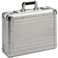Aktenkoffer Attache Koffer Aluminium silber Aluminiumkoffer Zahlenschloss XL