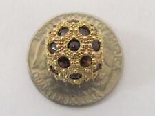14K GOLD Gemstone Ball Bead Slide Pendant Large Charm 7.4g