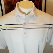 FOOTJOY POLO SHIRT large white 3 BUTTON FRONT MEN'S  Spring Valley