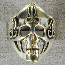 1 DELUXE FANCY SKELETON HEAD SILVER BIKER RING BR79 mens NEW jewelry RINGS SCULL