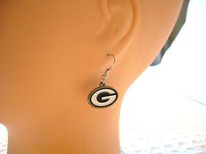 NFL GREEN BAY PACKERS  EARRINGS NFL FOOTBALL~WOMEN'S~MEN'S EARRINGS ~CLOSE-OUT