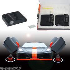 2x For Dodge challenger charger wireless car door LED logo laser projector light