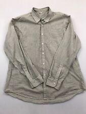 Steven Alan Men's Black Striped Long Sleeve Button Front Shirt Size 2XL