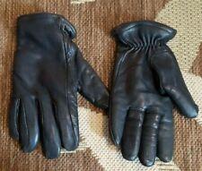 Vintage SARANAC Leather Winter Black Gloves Ladies Size medium