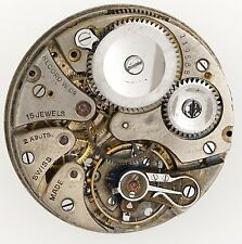 RECORD WATCH COMPANY, SWISS LEVER POCKET WATCH MOVEMENT SPARES OR REPAIR R224