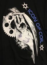 ICON OF COIL Autographed Andy LePlegua industrial Goth 2XL graphic black T-shirt