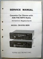 Alpine cm-812k cm-822k Autoradio service manual