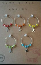 wine glass charms. Stars. Gift set. Mixed colour