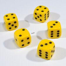 25 Stück 12mm Gelbe Knobel Würfel / Augen Würfel Spielwürfel von Frobis