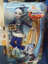 """DC SUPER HERO GIRLS """"FROST"""" ACTION DOLL~NIP 12 INCH W/ STUDENT  ID CARD! IN BLUE"""