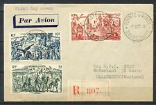 POINTE -A-PITRE 7.OCT.46 GUADELOUPE REGISTERED F.D.S. to PARAMARIBO, DWI   Ms258