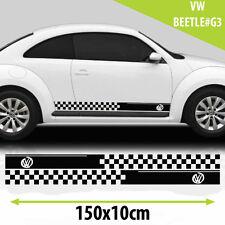 Rayas Laterales De Carreras Pegatinas Calcomanías Para Vw Beetle gráficos tamaño 150x10Cm