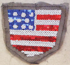Pieza de telas con lentejuelas 5mm para coser Bandera estrellada ee.uu.