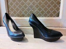 chaussure escarpins compenses noirs Stella Mac Mc Cartney t f 36 i 35 uk 3