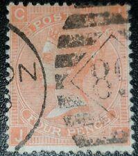 Duzik: Gb Qv Sg94 4d. vermilion Plate12 J-C used stamp (No2294)*