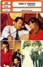 Fiche Cinéma. Movie Card. Blind date/Boire et déboires (USA) 1987 Blake Edwards