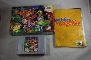 Banjo Kazooie Nintendo 64 n64 Complete in Box GREAT Shape