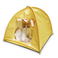 MagiDealPortable Outdoor Camping Pet Cat House Pet Sun Shelter House Tent Yellow
