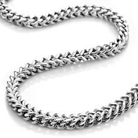 """USA Seller 2.2mm-3.2mm 16""""-40"""" Stainless Steel Foxtail Necklace"""