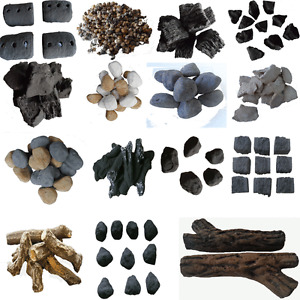 RCF Certified Gas fire Ceramic Coals/Pebbles/Stones/Logs Universal replacements