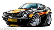 Ford Mustang Cobra 2 1978 Wall Graphic Decal Cartoon Car Men Man Cave Tools Boys