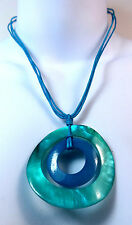 ELEGANT TURQUOISE BLUE NECKLACE SEA THEME PEARL STYLE BRAND NEW UNIQUE (A12)