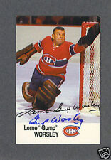 Gump Worsley signed Montreal Canadiens 1988 Esso card