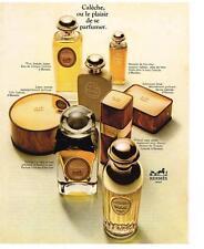 PUBLICITE  1969   HERMES   cosmétiques  CALECHE   parfum savon