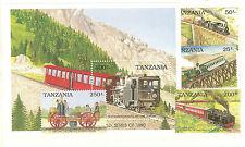 TRAINS LOCOMOTIVES TRANSPORT TANZANIE 5 VALEURS