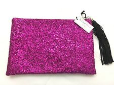 Lisa Bea Sparkle Large Pouch Clutch Bag - Pink - RRP £65 - New