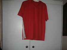 MENS SPORTS T SHIRT RED, SHORT SLEEVE FOR GYM/YOGA/FOOTBALL/SPORTS ACTIVITIES