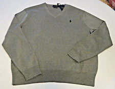 Polo Ralph Lauren sweater pull over v neck shirt XL Mens 710519450015 Fawn Grey