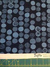 Kokka Japanese Import Fabric -100% Cotton Double Gauze Blue Circles-Trefle BTHY