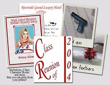 Murder Mystery Party Game for 8 people: High School Reunion *New improved design