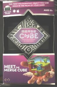 MERGE Cube Hologram Android Apple Compatible Ages 10+ VR/AR Mixed Mobile Powered
