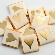 100 Gold Heart Chocolate Neapolitans Wedding Favours Confectionery Sweets (NG)