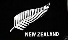 New Zealand Black with Fern 5x3 house flag