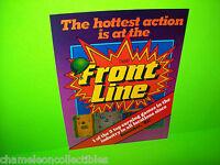 FRONT LINE By TAITO 1982 ORIGINAL NOS VIDEO ARCADE GAME SALES FLYER Version 2